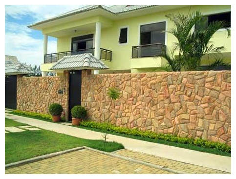 muros residenciais de pedras