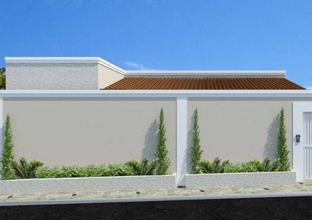 muros residenciais fachadas