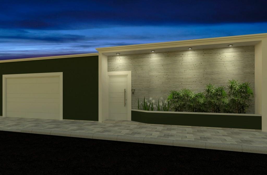 muros residenciais iluminação