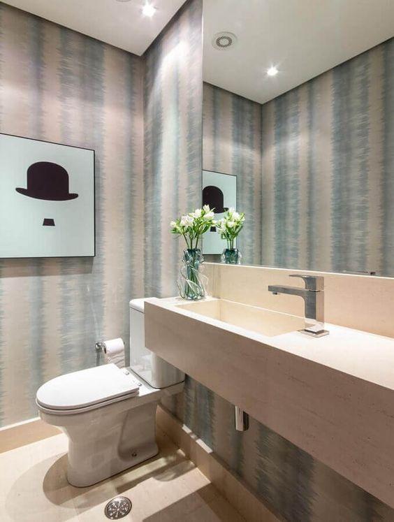 Fotos de Papel de parede para banheiros