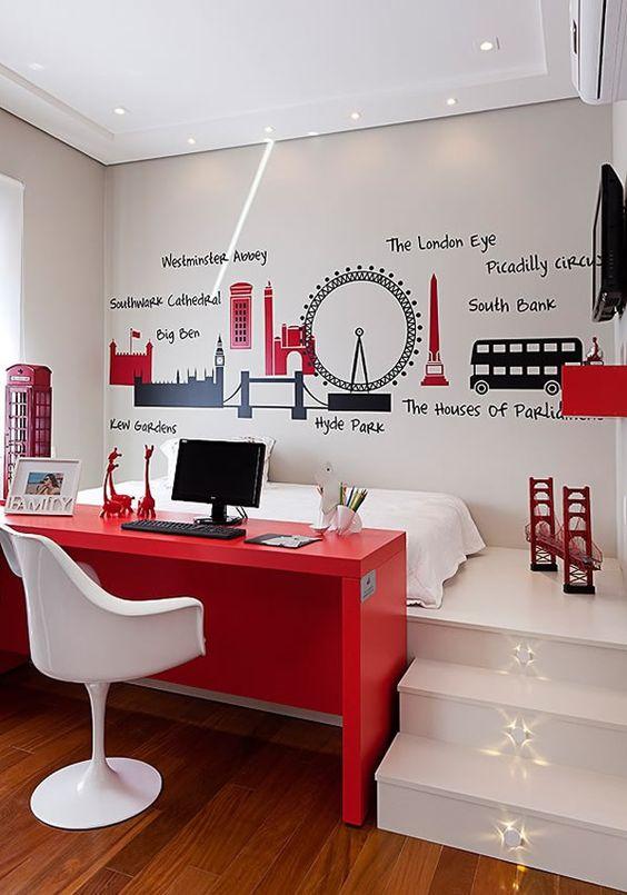 decoracao-de-escritorio-de-trabalho-vermelho