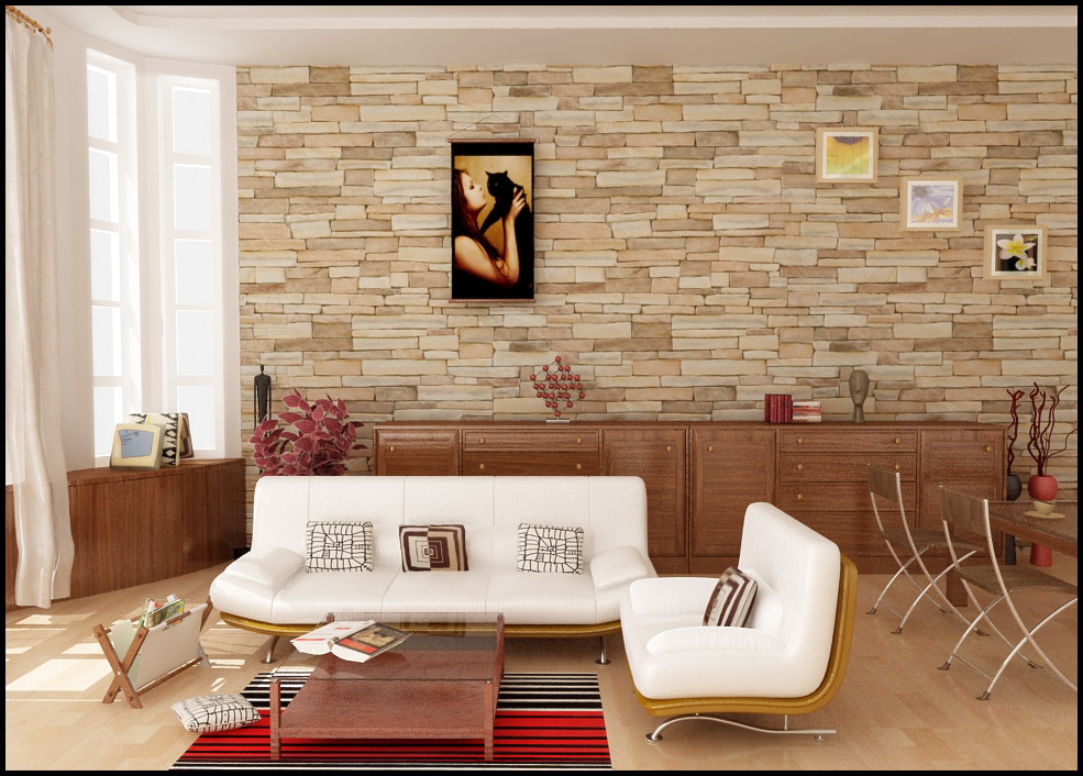 12 paredes decoradas com pedras