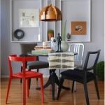 Cadeiras misturadas na Decoração do Ambiente