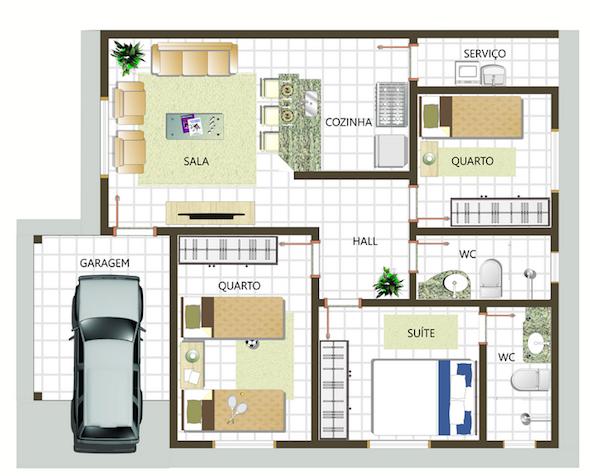planta-para-casa-com-3-quartos