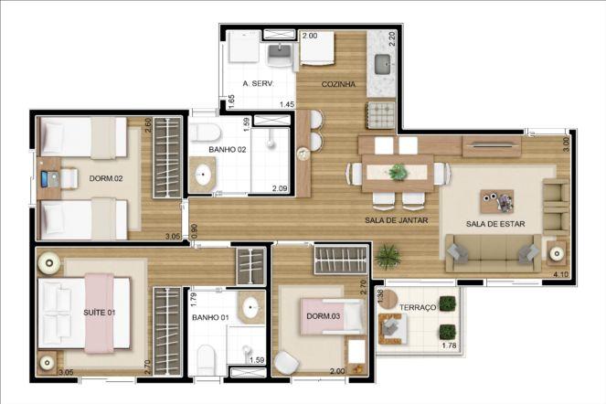 12-plantas-de-casas-com-tres-quartos