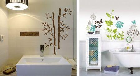16 exemplos de Adesivo na decoração de Banheiros
