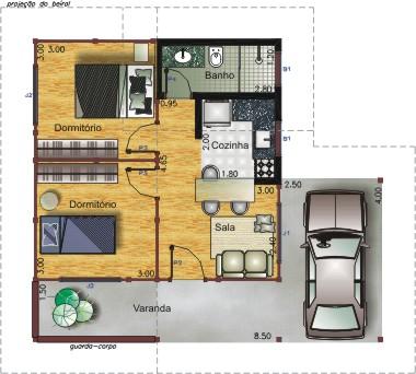 22 modelos de Plantas de casas pequenas