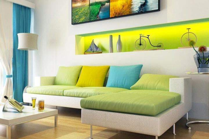 Casa simples e moderna decorada