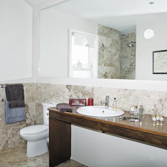 fotos de decoração de banheiros com espelhos