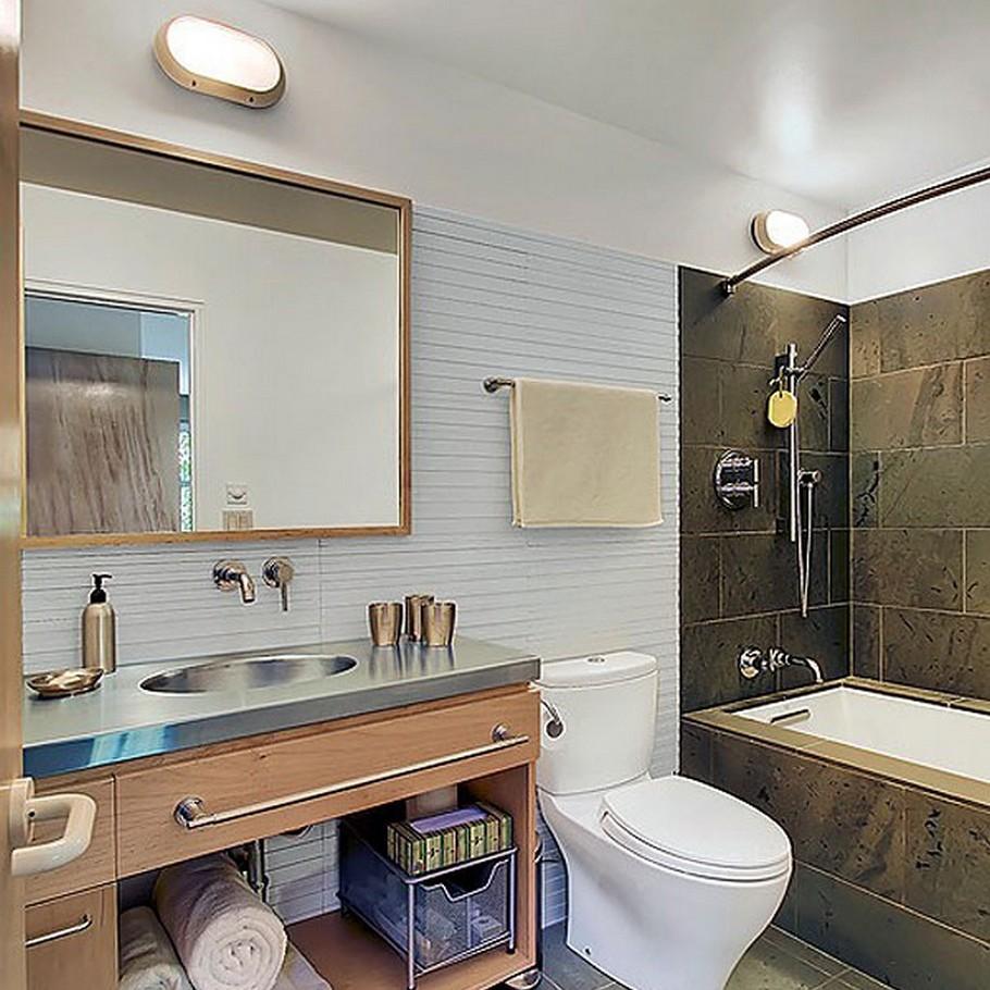 decoração para banheiros com espelhos