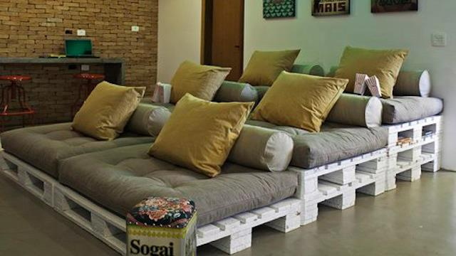fazer um sofá de palet