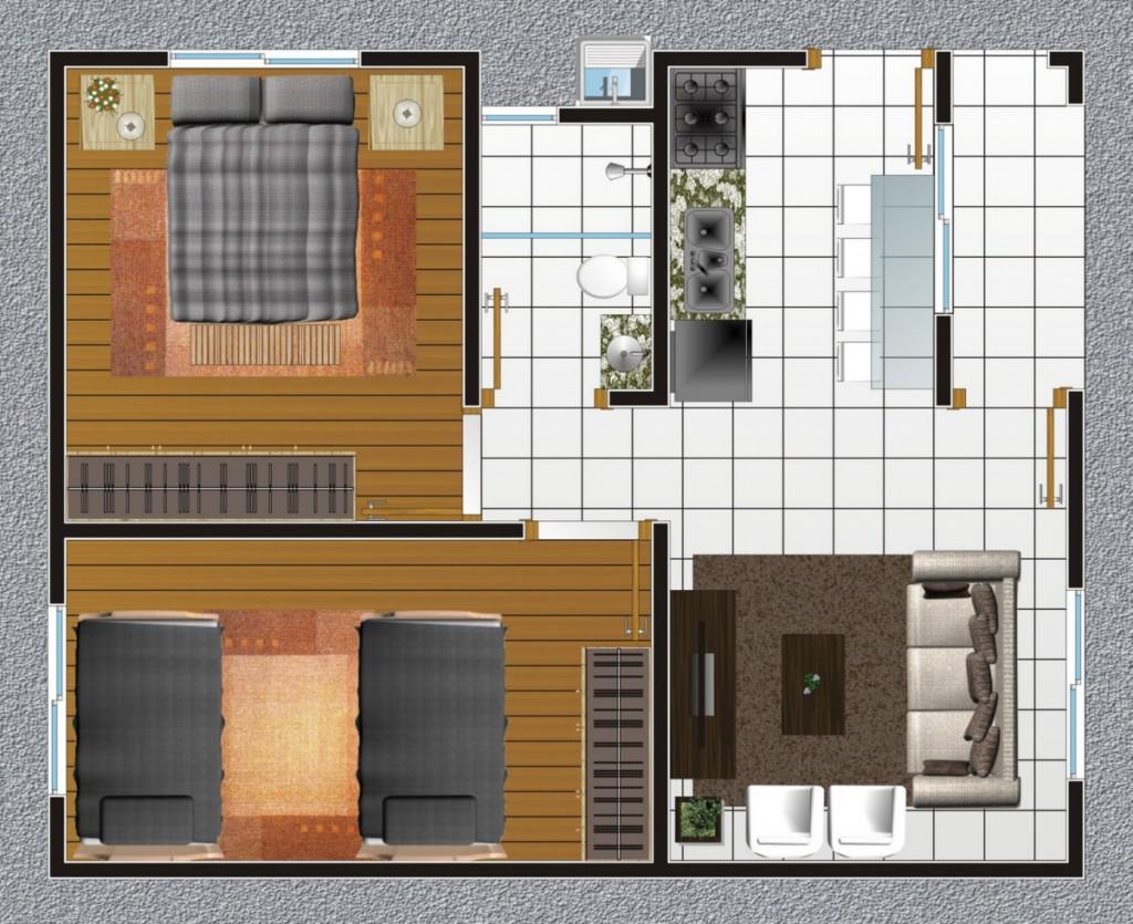 Modelos de plantas de casas pequenas e bonitas