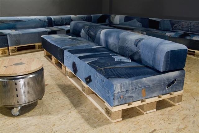 criar um sofa de palete