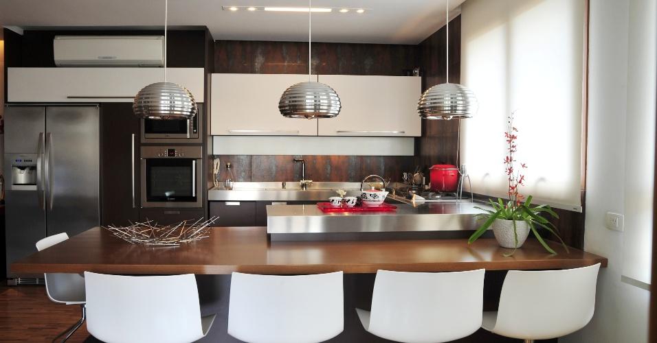 linda cozinha planejada decorada