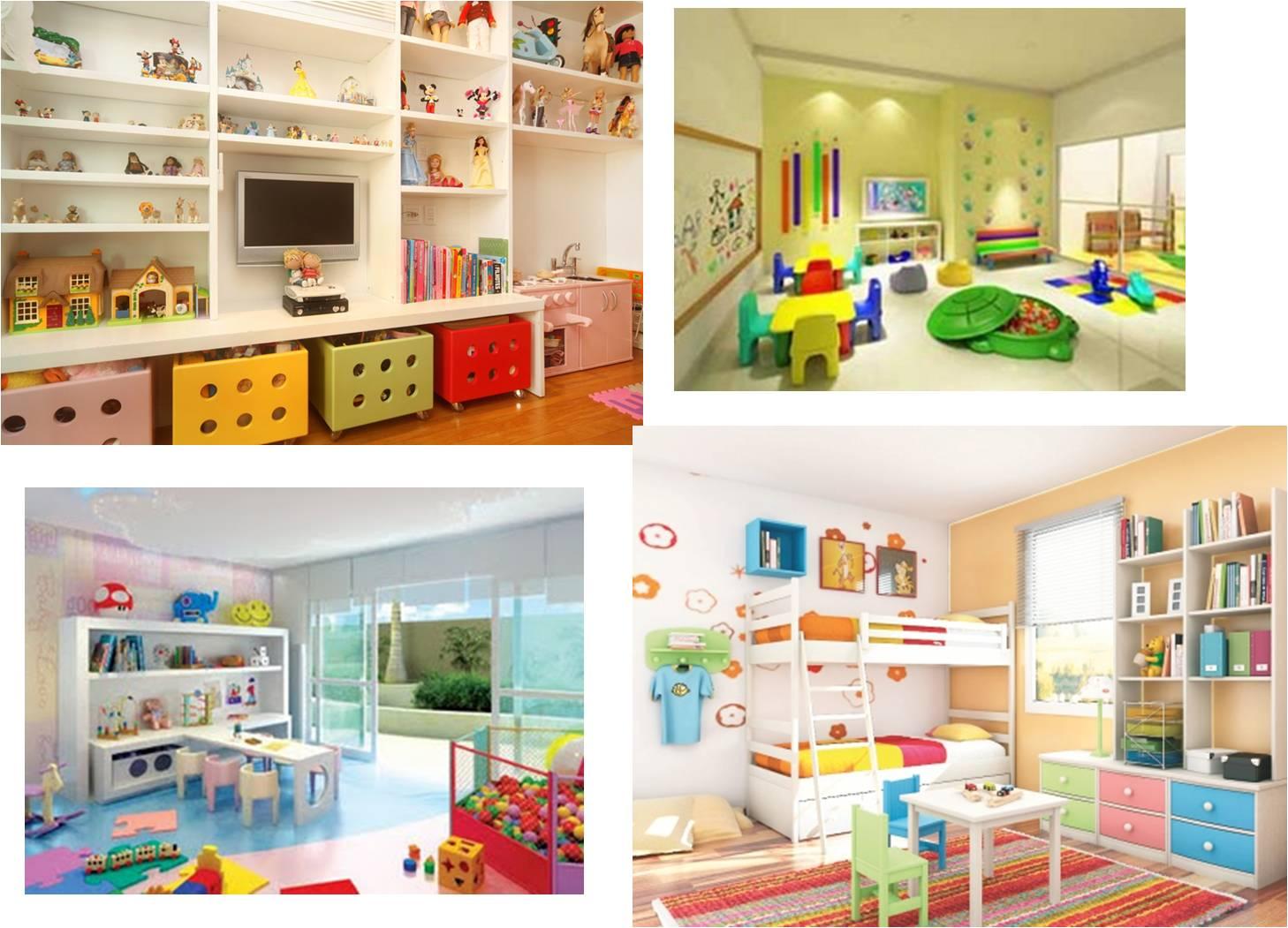 quartos de crianças brincar