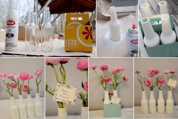 Como fazer Vasos reciclados na decoração de ambientes