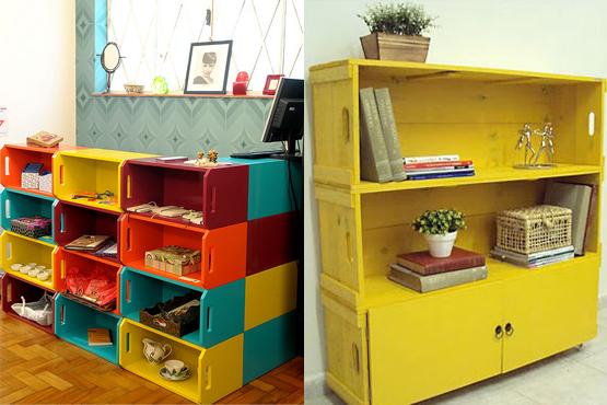 decoracao-com-caixotes-de-madeira-criativos