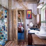 16 Modelos de Decoração de banheiros rústicos