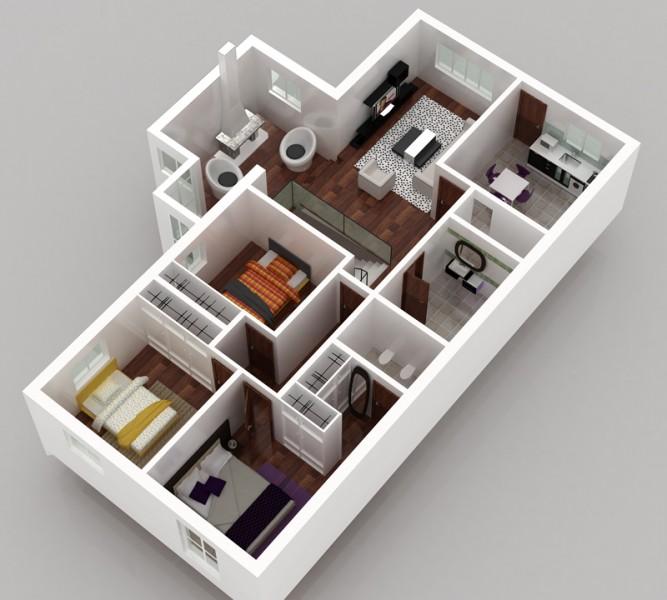 modelos-de-plantas-de-casas-3d-gratis