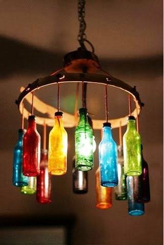 Luminárias Criativas para Decoração reciclaveis