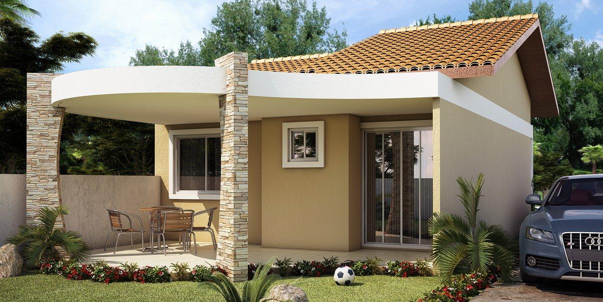 Imagem 2 - Fachada de Casa moderna e barata