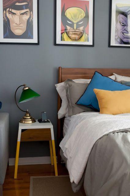 decoracao-de-quarto-masculino-quadros-no-fundo