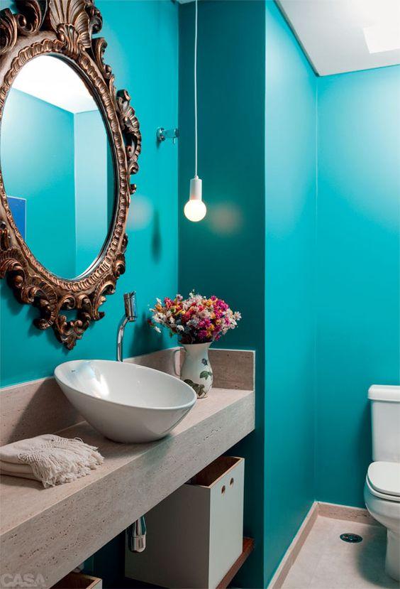 decoração com Espelhos para Banheiros