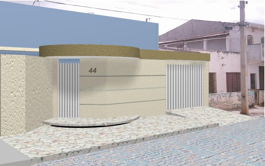 Fachadas com muros simples