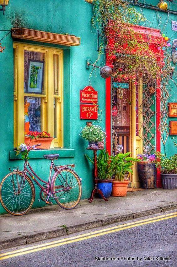 casas coloridas vintage