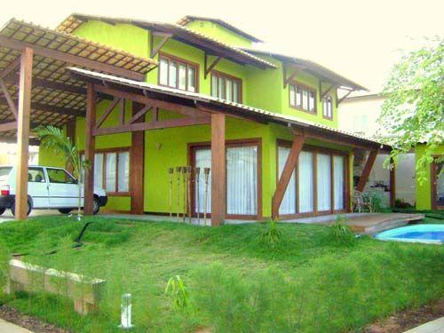 fachada de Casas coloridas