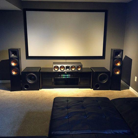 decoração de home theater na sala de tv