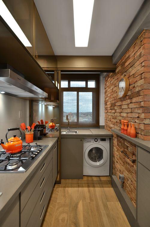 cozinha de loft decorada