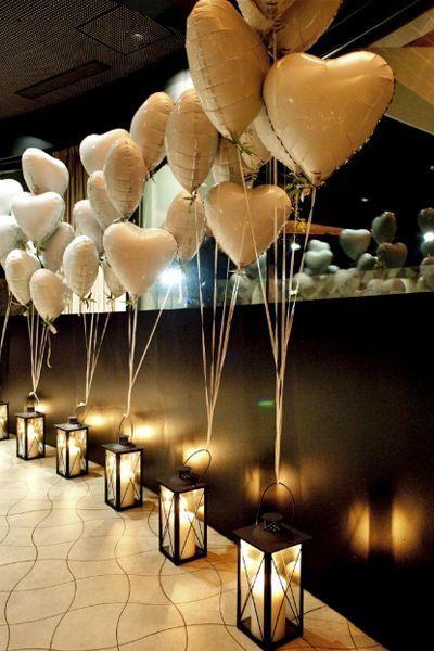 balões de coração para festa de noivado
