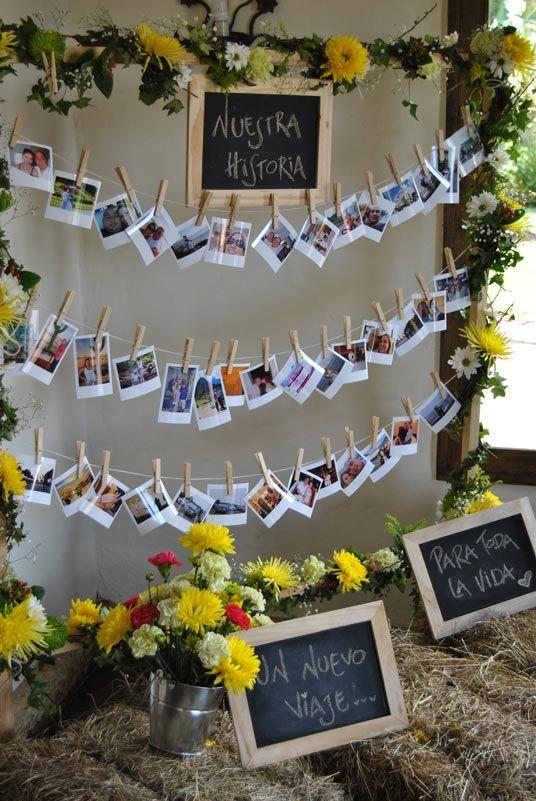 festa de noivado com fotos