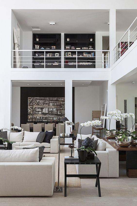 Decoração de lofts em branco