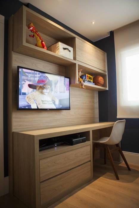 Decoração de quartos para meninos com TV