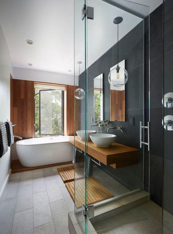 como decorar banheiro com banheira