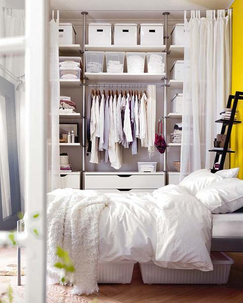 closets pequenos no quarto