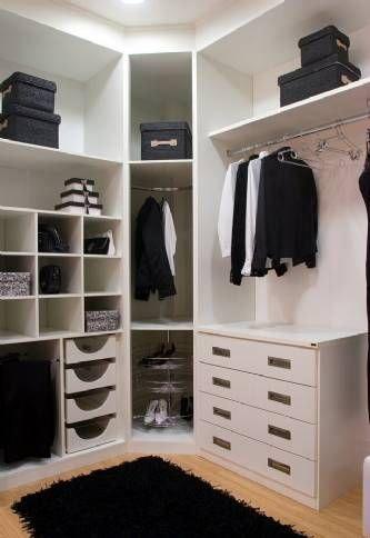 como decorar closets pequenos