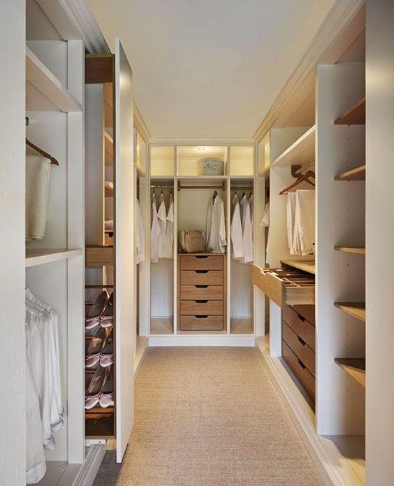 como montar um closet pequeno