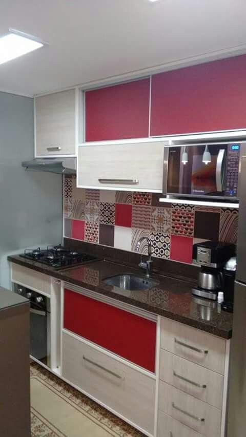 Cozinhas Vermelhas bonitas