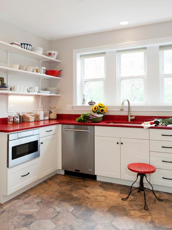 cozinha vermelha bonita