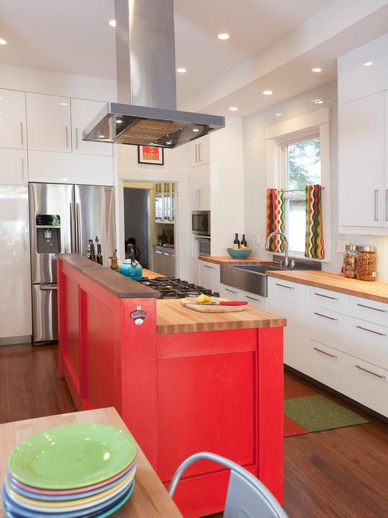 cozinha vermelha gourmet