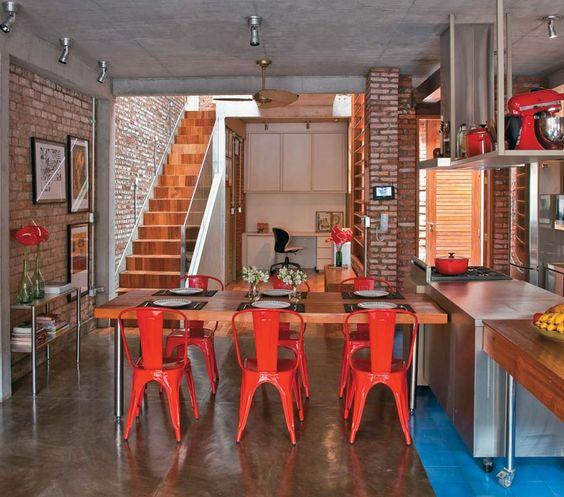 cozinha vermelha perfeita