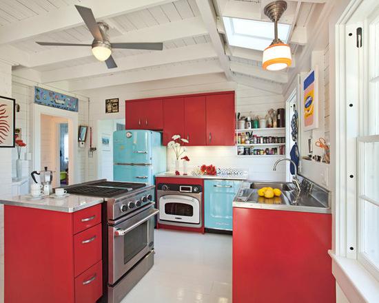 cozinha vermelha planejada
