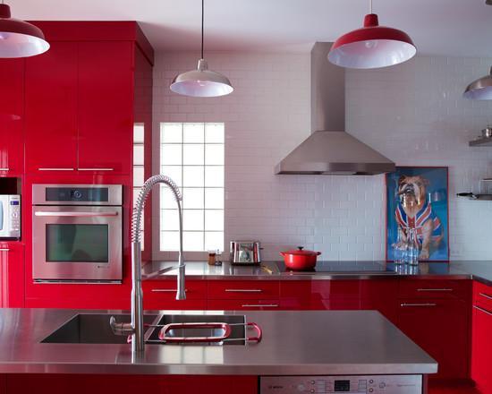 cozinhas vermelhas lindas