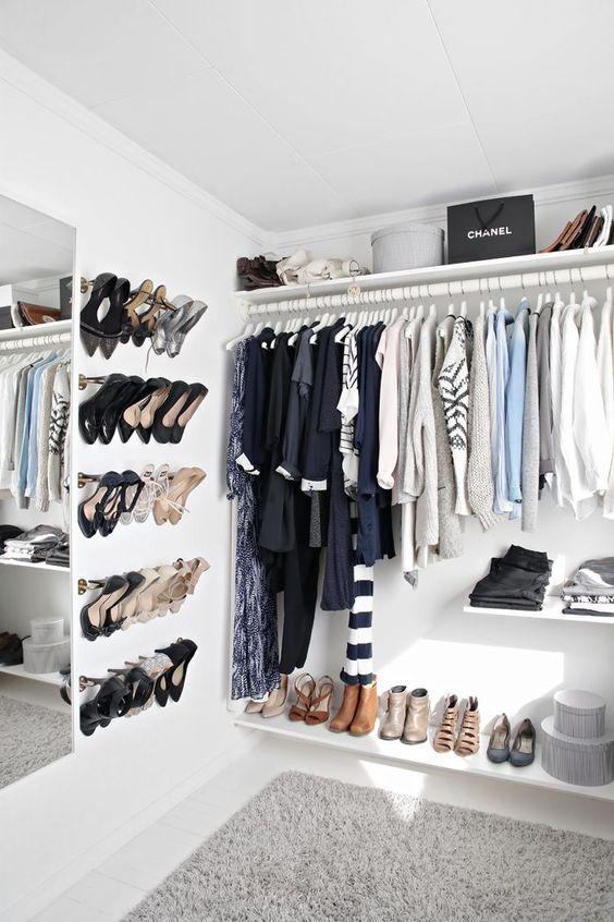 decoração closets pequenos