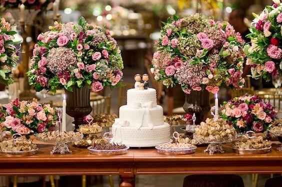 Mesas de Bolo de Casamentos