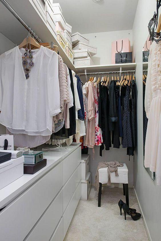 modelo de closet pequeno