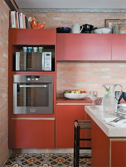 decoração de cozinha vermelha